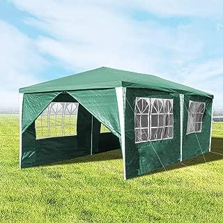 wolketon Pavillons 3x6 m Partyzelt Gartenpavillon mit 6 Seitenwänden 100G PE Grün Gartenzelt für Garten/Party/Hochzeit/Picknick/Markt