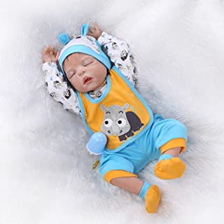 Sleeping Reborn Baby Dolls Boys Silicone Full Body 22 Inches Realistic Lifelike Baby Dolls Eyes Closed Washable Toy Doll Anatomically Correct Reborn Baby Boy