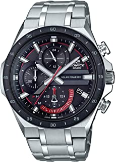Men's Edifice Quartz Watch with Stainless-Steel Strap, Silver, 28.5 (Model: EQS-920DB-1AVCR)