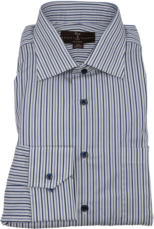 Robert Talbott Men's Estate Classic Fit Candy Stripe Dress Shirt