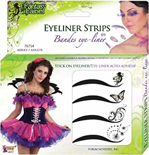 Forum Novelties Women's Fairy Adhesive Eyeliner Strips Kit