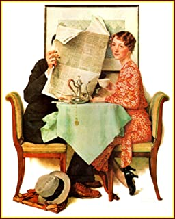 Books & Arts Museum _ Norman Rockwell: Breakfast, Vintage Old Art Print, 1930, 11.1/2 X 15 Inches
