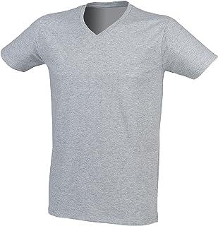 Skinni Fit Men Mens Feel Good Stretch V-neck Short Sleeve T-Shirt