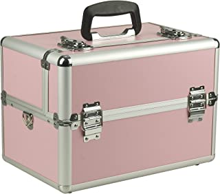 Hiker Makeup Artist Train Case, Smooth Pink