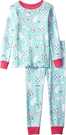 Hatley Kids - Arctic Party Long Sleeve Pajama Set (Toddler/Little Kids/Big Kids)