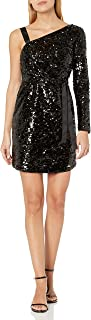 A|X Armani Exchange womens Sequin One Shoulder Party Dress Special Occasion Dress