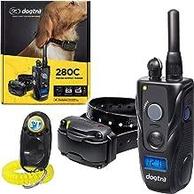 Dogtra 280C, 282C Remote Training Collar - 1/2 Mile Range, Waterproof, Rechargeable, Shock, Vibration - Includes PetsTEK Dog Training Clicker