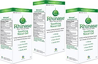 3 Pack Rhinase Nasal Gel for Allergy, CPAP, Nosebleed, Low Humidity Dry Nose - New Laminate Tube