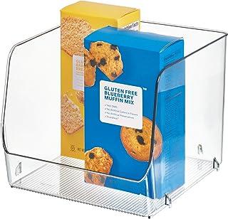InterDesign Linus boite de rangement empilable pour le frigidaire, bac plastique extra large pour aliments ou accessoires ...