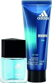 Adidas Moves For Him 2Pc Set - 0.5 Oz Eau De Toillette, 2.5 Oz Hair & Body Wash