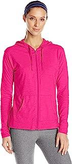 (Medium, Amaranth) - Hanes Women's Jersey Full Zip Hoodie