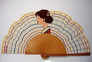 Abanico español pintado a mano