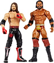 WWE Pack de 2 - Figuras de acción luchadores AJ Styles vs Jinder Mahal, juguetes niños +6 años (Mattel GBN60)