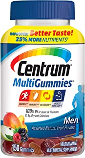 Centrum MultiGummies Gummy Multivitamin for Men, Multivitamin/Multimineral Supplement with Selenium, Antioxidants and Vita...