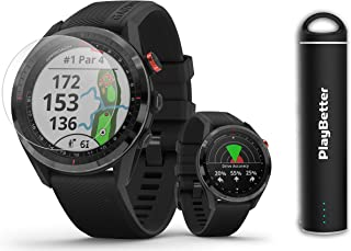 $509 » Garmin Approach S62 (Black) Golf GPS Watch PlayBetter Bundle | +PlayBetter HD Screen Protectors & Portable Charger | Touch...