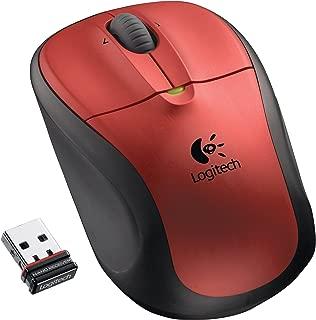 Logitech M305 Crimson Red Wireless Optical Mouse