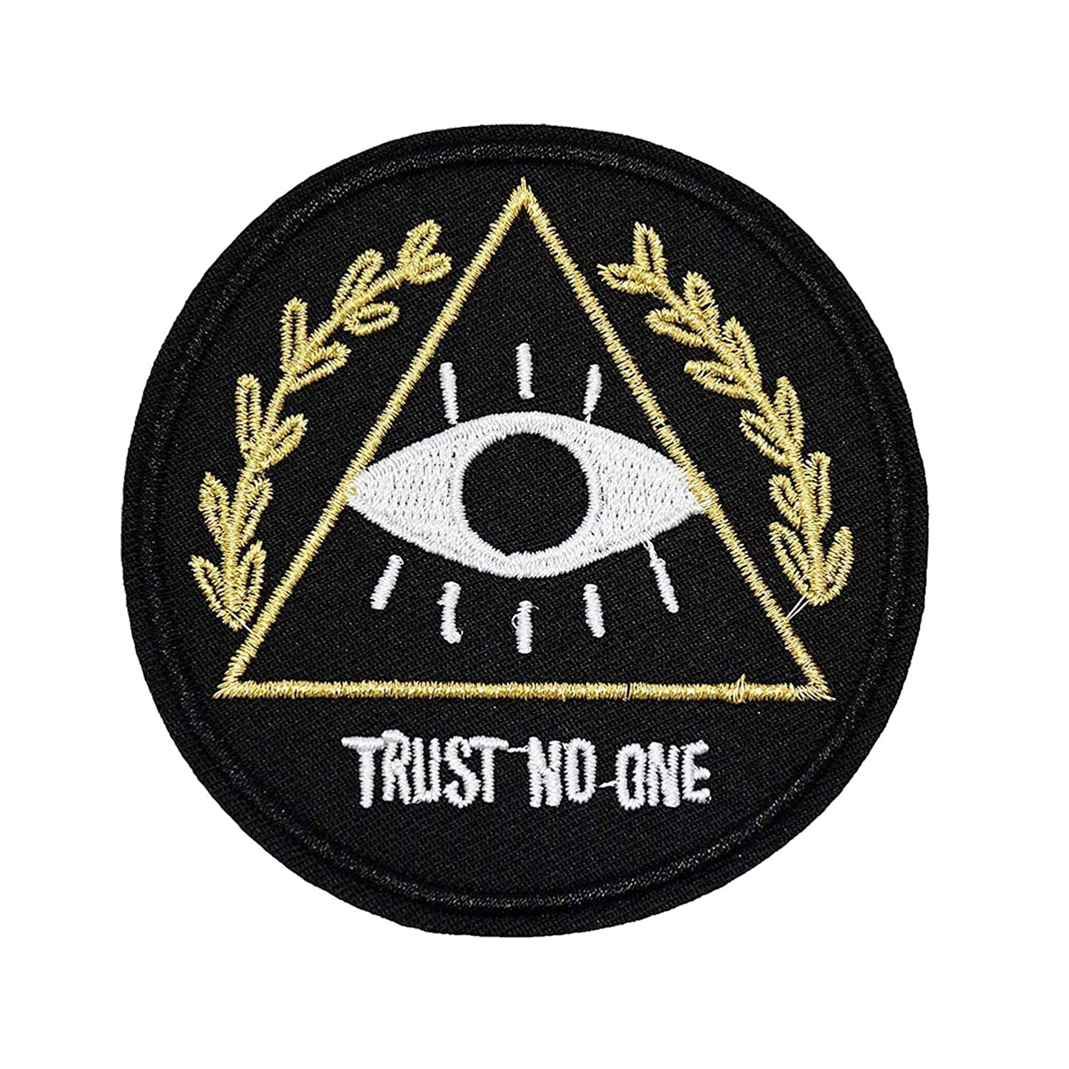 U-Sky Sew or Iron on Patches - Trust No One Patch - Pack of 2 Different Design