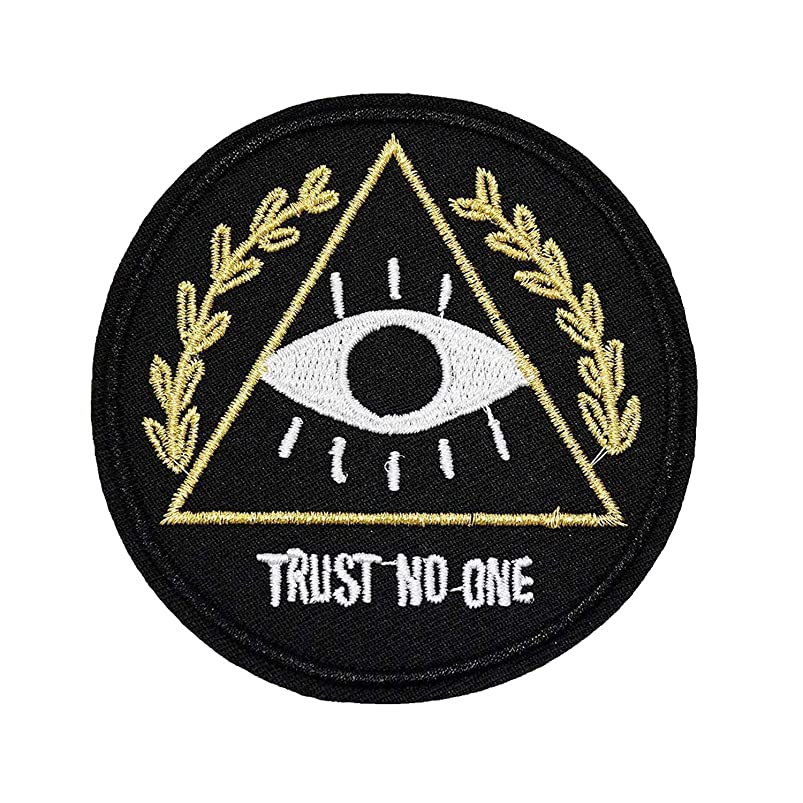 U-Sky Sew or Iron on Patches - Trust No One Patch - Pack of 2 Different Design kbsdkejb985879