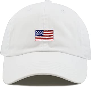 8e2ac017 THE HAT DEPOT Kids American Flag Washed Low Profile Cotton and Denim Baseball  Cap Hat