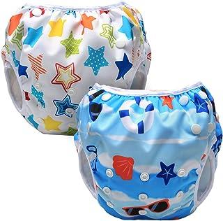 comprar comparacion Luxja Pañal de Natación para bebes Bañador Reutilizable de Nadar de Bebé Pañal lavable para Bebé (0-3 años), playa + estre...