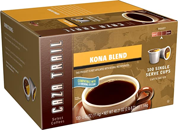 Caza Trail Coffee Kona Blend 100 Single Serve Cups