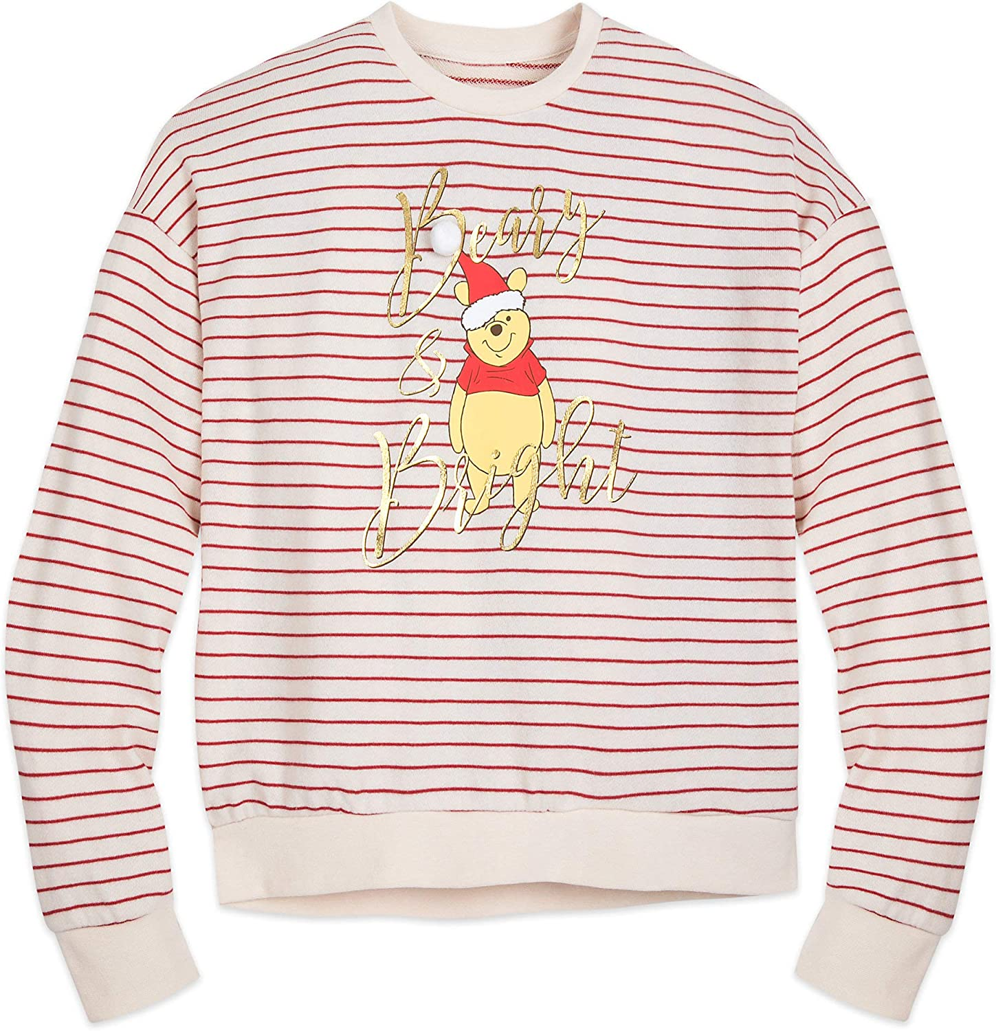 Disney Winnie The Pooh Holiday Pullover Sweater for Women Multi