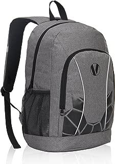 Veegul Luminous School Backpack Teens Glow Bookbag Boys Girls Daypack Gray