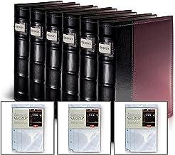 Bellagio-Italia Burgundy DVD Storage Binder Set - Stores Up to 384 DVDs, CDs, or Blu-Rays - Stores DVD Cover Art - Acid-Fr...