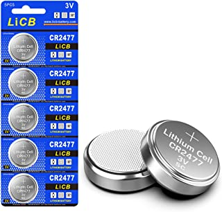LiCB CR2477 Battery,Long-Lasting & High Capacity CR2477 Lithium Batteries,3 Volt Coin & Button Cell (5-Pack)