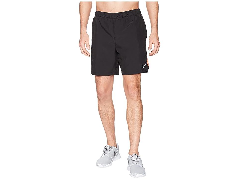 Nike Challenger 7 Dri-Fit Running Short (Black/Black/Rush Coral) Men