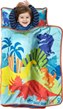 Jurassic World Save Our Dinos Toddler Nap Mat - Includes Pillow & Fleece Blanket - Great for Boys and Girls Napping at Daycare, Preschool, Or Kindergarten - Fits Sleeping Toddlers and Young Children
