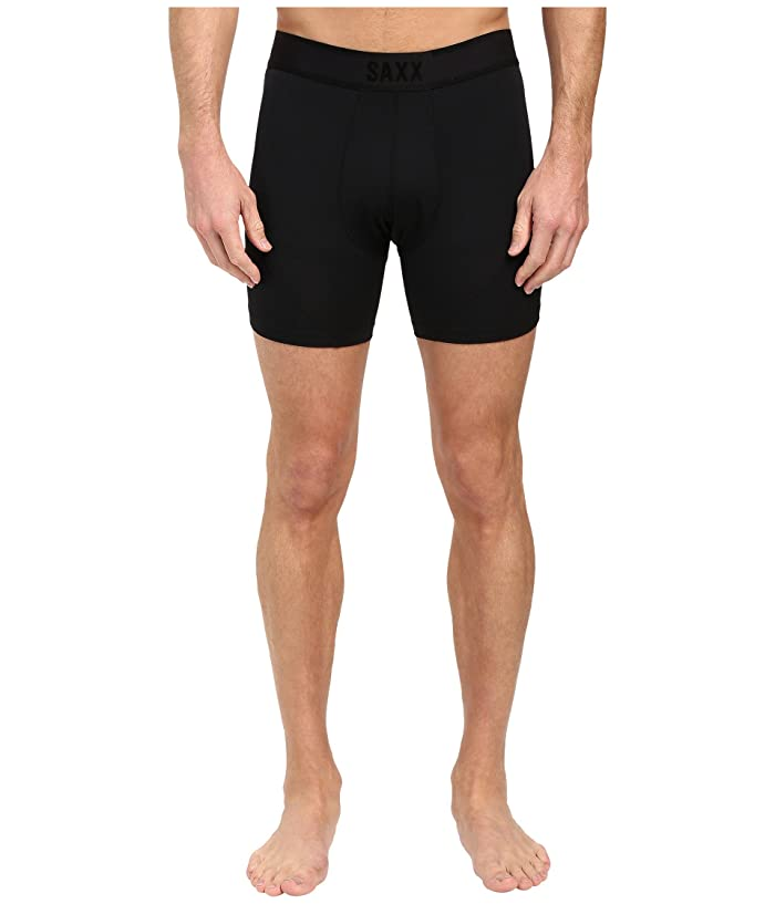SAXX UNDERWEAR Kinetic Boxer (Blackout) Men