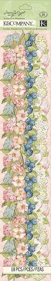 K&Company Floral Adhesive Border by Susan Winget