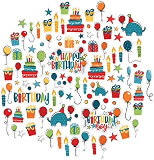 Paper Die Cuts - Birthday Boy - Over 60 Cardstock Scrapbook Die Cuts - by Miss Kate Cuttables