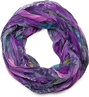 Violett-Marineblau Unisex Schal Karomuster gro/ß Pashmina lang