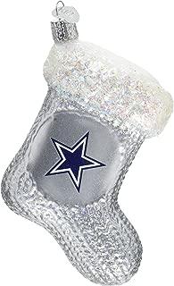 Old World Christmas Glass Blown Ornament Dallas Cowboys Stocking