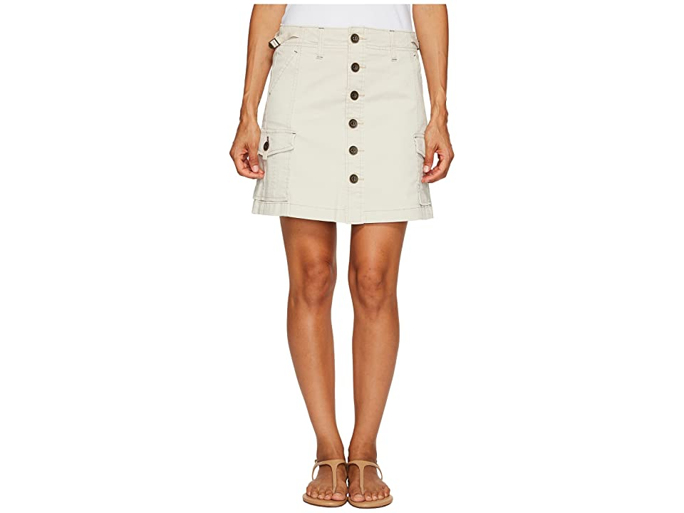 Jag Jeans Petite Petite Boardwalk Skirt in Divine Twill (Stone) Women