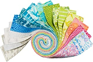 Robert Kaufman Marmalade Dreams 2.5'' Roll Ups 40 Piece Fabric, Multicolor