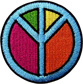 Segno Di Pace Simbolo Hippie Retro Boho Flower Power Weed Amore Distintivo Ricamato Applicazioni Il Ferro Su Cucia Sulla T...
