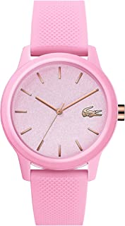 Lacoste Womens Quartz Watch, Analog Display and Silicone Strap 2001065