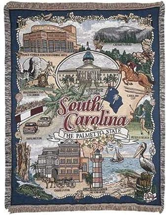 South Carolina The Palmetto State Tapestry Throw Blanket 50 x 60 SKU RTP042720