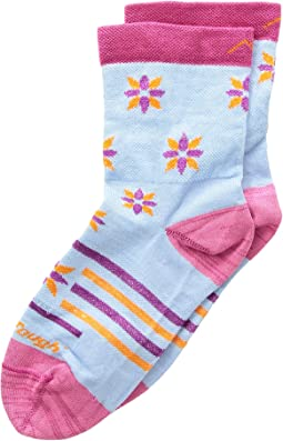 Darn Tough Vermont Indie Floral Crew Light Socks 3-Pack (Toddler/Little Kid/Big Kid)