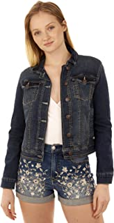 WallFlower Women's Juniors Classic Denim Jacket
