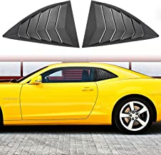 Sunluway for Chevy Camaro 2010-2015 Quarter Side Window Scoop Louvers ABS Window Visor Cover Sun Rain Shade Vent