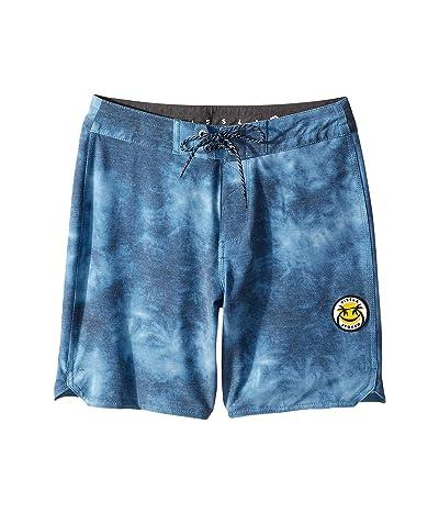VISSLA Kids Solid Sets Boardshorts (Big Kids) (Strong Blue) Boy