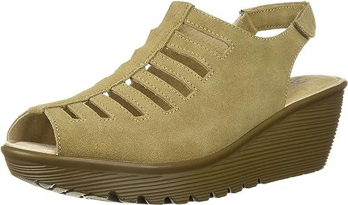 Skechers Wohommes Wohommes Parallel-Trapezoid Wedge Sandal,dark natural,6 M US  vente de renommée mondiale en ligne