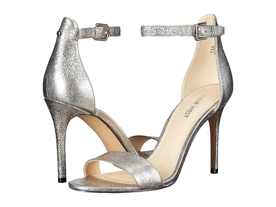 Nine West Mana Stiletto Heel Sandal (Pewter Metallic) High Heels