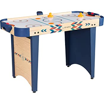Amazon Com Lanos Air Hockey Table For Kids And Adults 4 Foot Air Hockey Game Table With Electronic Scoreboard Powerful Air Blower 2 Pushers And 2 Hockey Pucks Ice Hockey