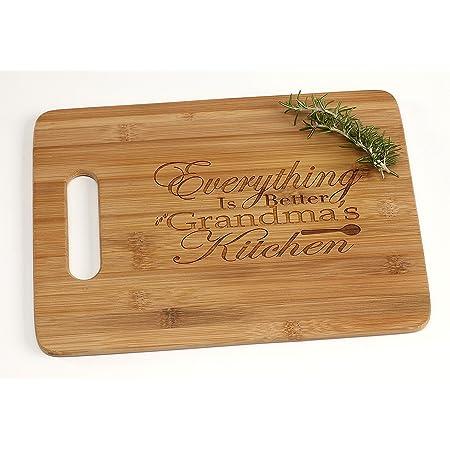 Personalized Cutting Board Grandma/'s Kitchen Cutting Board Custom Cutting Board Custom Engraved cutting Board 13.5 x 1  Bamboo wood