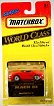 Matchbox 1993 - Tyco Toys Inc - Super World Class Series #42 - Mustang Mach III - Red Convertible - 1:64 Scale Die Cast - MOC - Out of Production - Limited Edition - Collectible